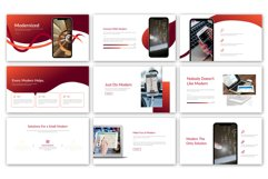 Red Modernized Presentation Product Image 2