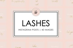 Lashes Blush and Gold Instagram Posts Product Image 1
