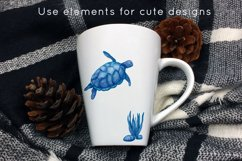 Ocean animals watercolor clipart Product Image 5