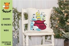 2020 Christmas Survival Kit Santa Sack Sublimation Design Product Image 3