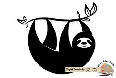 Sloth silhouette svg CUT FILE, Sloth svg funny cute Sloth Product Image 1