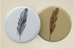 Watercolor feathers clipart Product Image 3