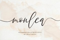 Monlea - Handwritting Script Product Image 1
