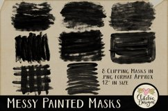 Clipping Masks - Messy Painted Photo Masks & Tutorial Product Image 5