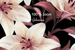 Lilies. Seamless patterns Product Image 2