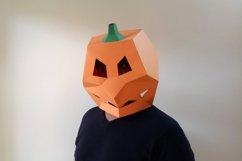 DIY Pumpkin Mask - 3d papercraft Product Image 1
