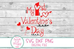 1st Valentine's Day SVG, Kids Valentine SVG, Kids Love SVG Product Image 2