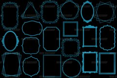 Teal Frames Clipart Set of 20 Product Image 2