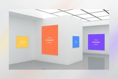 Art Gallery four Frames Mockup 3D Product Image 1