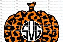 Pumpkin Monogram and Split Frames SVG Bundle Product Image 6