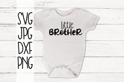 Little Brother, A Sibling SVG For Crafters Product Image 1