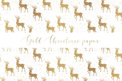 Gold Christmas digital paper, seamless pattern Product Image 6