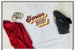 Retro Senior 2021 SVG Bubble Letters Product Image 2