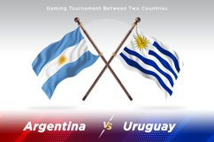 Argentina vs Uruguay Two Flags Product Image 1