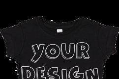 Toddler Gilrs Flat Jersey T Shirt Mockups - 17 Product Image 3
