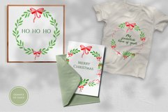 Watercolor Christmas Wreaths. Hand drawn holiday cliparts Product Image 3