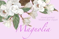 Magnolia Flower, Watercolor Floral clipart Product Image 1
