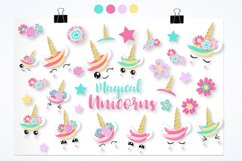 Unicorn faces graphics and illustrations Product Image 4