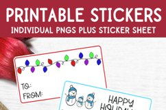Christmas Stickers - Print and Cut Gift Stickers - Gift Tags Product Image 3