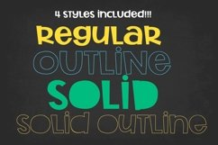 Rocket Science Layering Font Product Image 4
