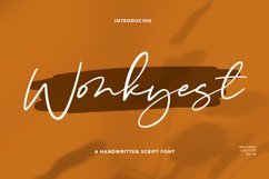 Wonkyest Handwritten Script Font Product Image 1