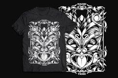 Maori Mask T-Shirt Design Product Image 1
