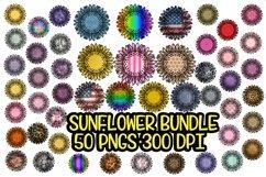 Sunflower - PNG - Sublimation Background Bundle- 50 Elements Product Image 1
