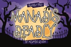 Web Font - Manadis Deadly - Quirky Font Product Image 1
