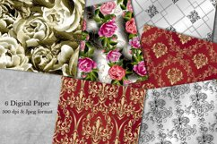 Victorian damask seamless pattern. Collection of papers Product Image 1