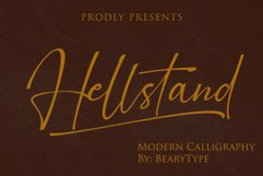Hellstand // Script Fonts Product Image 1