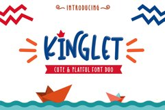 Kinglet - Cute Font Duo With Extras Product Image 1