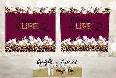 Nurse life burgundy tumbler wrap floral sublimate design png Product Image 2