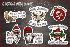 Creepy Christmas & Heavy New Year Stickers, Christmas PNG Product Image 3