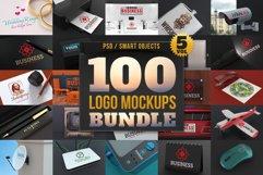 100 Logo Mockups Bundle Vol.5 Product Image 1