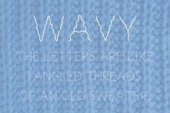 Wavy handwrutten font in ttf and otf Product Image 2