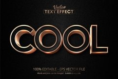 Cool text, luxury rose gold editable text effect Product Image 1