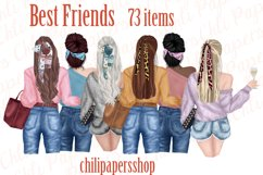 Best Friends Clipart,Fashion girls,Portret creator,BFF Mug Product Image 1