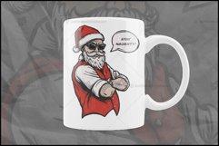 Naughty Santa, Christmas T Shirt Design, Christmas Clipart Product Image 6
