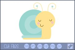 Snail SVG | Cute Bug SVG Product Image 1