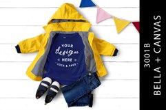Kids True Royal Bella Canvas 3001B T-Shirt Mockup Fashion Product Image 1