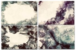12 Dark Alcohol Ink Backgrounds. Product Image 5