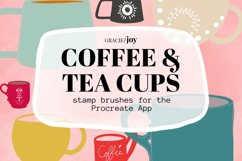 Coffee and Tea Cups Procreate Stamp Brush Product Image 1