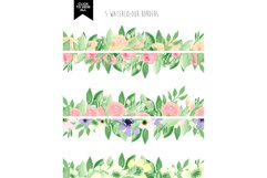 173 summer watercolor flowers Product Image 3