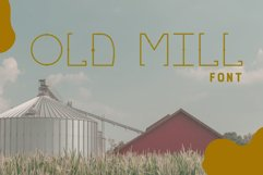 OLD MILL Font Product Image 1