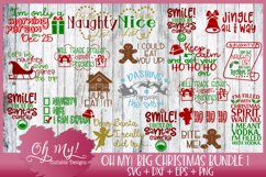 Oh My! Big Christmas Bundle 1 - 20 Designs SVG EPS DXF PNG Product Image 1