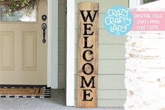 Welcome Porch Sign SVG DXF EPS PNG Cut File Product Image 1