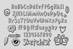 Web Font Sketchist - 3D Outlined Fancy Font Product Image 6