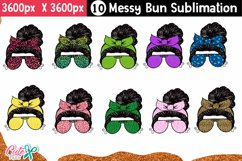 Messy bun with leopard- Mom life sublimation design Product Image 1