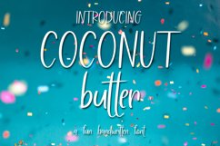 Web Font Coconut Butter - A Fun Hand-Written Font Product Image 1
