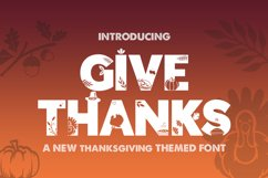 Give Thanks Silhouette Font Product Image 1